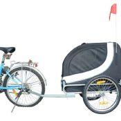 Hundeanhänger Fahrradanhänger Hunde Fahrrad Anhänger Weiß/Schwarz NEU - 1
